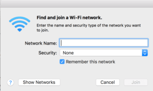 join other network wi-fi